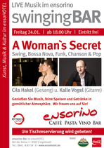 Plakat, swinging Bar, ensorino